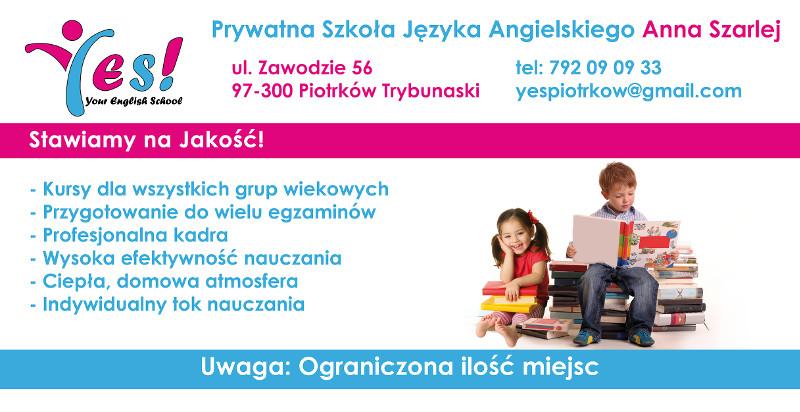 Szkoła nauka języka angielskiego w Piotrkowie Trybunalskim